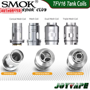 Authentic SMOK TFV16 Coils TFV16 Mesh Coil Dual   Triple & Conical Mesh Coils Replacement Core Heads for TFV16 Tank & Mag P3 Kit