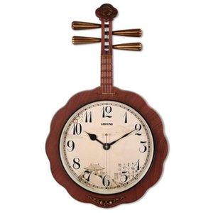 Silent Modern Guitar Large Wall Clock Creative Design Quartz Decorative Designer Wall Clock Wanduhr Watch Decorative Supplies L