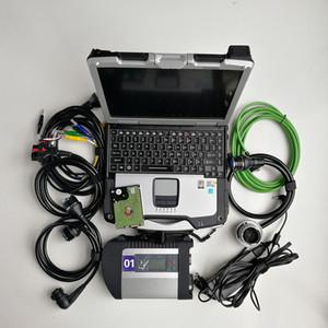 V06 / 2020 deviazione standard di mb C4 diagnosi della stella del compatto 4 con WIFI per le auto con stella c4 di mb HDD + CF30 laptop