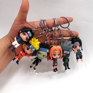 6 peças / set sete centímetros Naruto animação modelo manual anel chave p140 brinquedo dom acessórios da boneca área de trabalho infantil