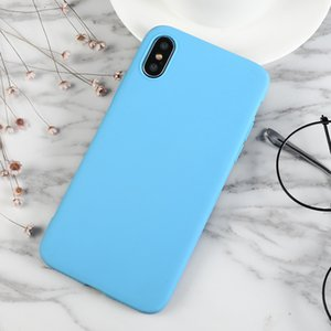 Phone Case For Iphone X XS Max XR 8 7 6 6S Plus 5 5s Se Cases Matte Solid Sky Blue Full Cover For Iphone 7 8 Plus Cases Fundas