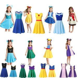 Stellt 17S Mutter und Tochter Prinzessin Kleid Mädchen Erwachsene Kinder Sommer-Karikatur-Kind-Kind-Prinzessin Kleider der beiläufigen Kleidung Kid Trip Frocks Partei