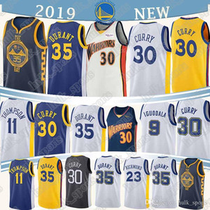 1 개 러셀 (30) 카레 뉴저지 35 듀란트 (23) 그린 1 DAngelo 11 톰슨 9 lguodala 남자 농구 유니폼