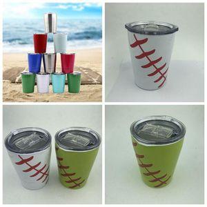 11 Renkler Süt Kupası Paslanmaz Çelik Cup Coffee Mug ayaksız şarap Cam Bira Mug Açık Araba Kupalar CCA11350-A 25pcs Çocuk 9 oz