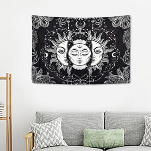 1pc Beach Towel Bath Towel Shawl Tapestry Background Wall for Home Decor (Black)