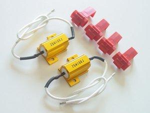 PA LED 1 Par de LED Auto sinal luminoso Erro gratuito Ouro Resistor Kit Fix 10 OHM 25W