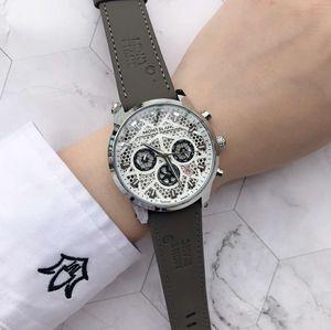 мужские наручные часы класса люкс MONT Марка известный бренд нового стиля дизайнер наручных часов Хронограф кожаный ремешок Reloj de lujo relógio de luxo