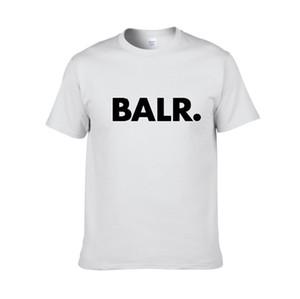 2019 novo verão marca BALR roupas O-pescoço dos homens da juventude T-shirt impressão Hip Hop t-shirt 100% algodão moda masculina T-shirts