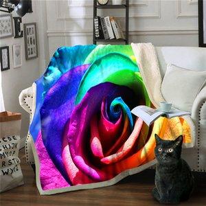 Одеяло Цветочное Руно Одеяла и накидки Colcha De Cama Casal Throw Одеяло Frazadas De Polar Mantas Cama