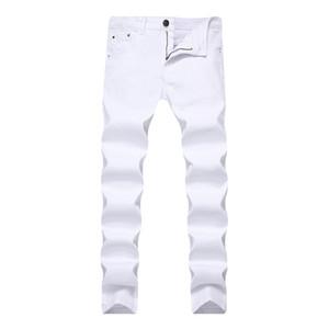 2018 Männer Stretch Jeans Fashion White Denim Hosen Für Männer Frühling Und Herbst Retro Hosen Casual Herren Jeans Größe 28-42 Y190603
