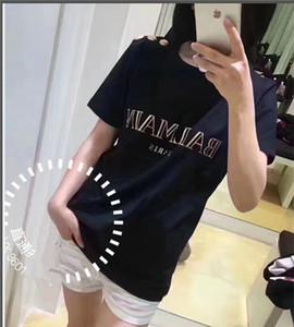 Primera marca de lujo 2020Balmain las mujeres mujeres de la camiseta verano T camisa de la ropa de Hip Hop