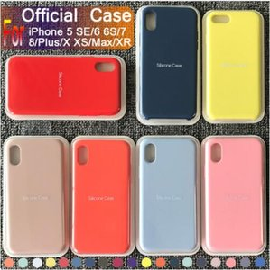 2019 New Modell Original Silikon-Kasten für iPhone 11 Pro Max 7 8 Plus-Telefon-Kasten für iphone XS X 6S 6 Plus mit Kleinkasten
