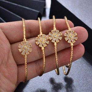 WANDO 4pcs Dubai Bangles For Baby Kids Gold Color Ethiopian Exquisite Bracelet Bangle Trendy African Arab Jewelry