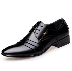 Mens eleganter Kleid Schuh Männer Art und Weise Kleidebene Mann PU-klassisches Design Atem Schuhe Mann rutschfeste Schuhe offizielle zy889