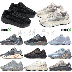 Kanye West 700 V2 coureur de vague Inertie Tephra hôpital Blue Geode Utility Noir Vanta runing Chaussures Homme Designer Shoes Sneakers statique