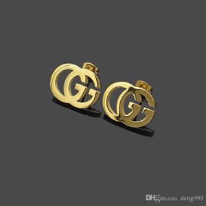 Nuovo arrivo Stravagante Design G Stamp Orecchio Orecchini Oro Argento Rosa Gioielli Studs Orecchini in acciaio inox per le donne del cerchio di moda
