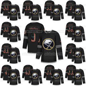 Buffalo Sabres 2020 USA Flag Moda Jack Eichel Sam Reinhart Victor Olofsson Johansson Rasmus Dahlin Ristolainen Jeff Skinner Hockey Jersey