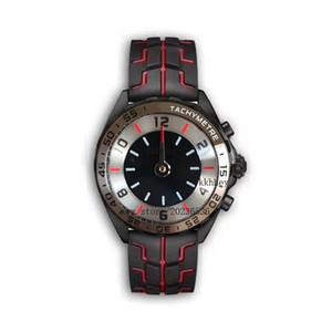 Новые роскошные мужские часы черный стальной корпус резиновый ремешок F1 racing watch sport кварцевый многофункциональный хронограф календарь наручные часы Montre