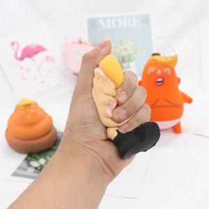 Дональд Трамп Стресс Squeeze Бал Jumbo Squishy игрушки новизны сброса давления для детей Kid кукла PU Squeeze Fun Шутка Реквизит подарков для детей игрушек D11402