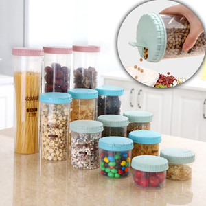Convenient cover sealing storage tanks plastic thick storage bottle boxes kitchen tools Home Organization Jars