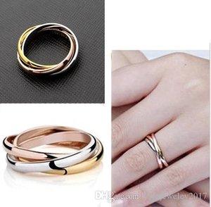 Нержавеющая сталь 316L Lover Тринити Кольца серебро и розовое золото и золота 18 карат пара группы кольца для женщин и мужчин Top Brand Jewelry