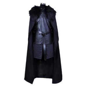 Fashion-Halloween Men Costume Game of Thrones Nights Watch Jon Snow Cosplay Kid Outfit Cartoon Clothing Plus Size XXS-3XL