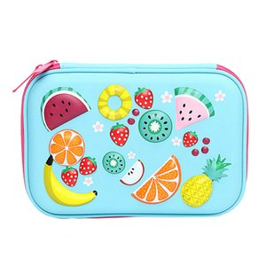 Large capacity stationery pencil case high quality PU school supplies stationery gift pencil case school cute
