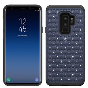 Bling Kristal LUxurious Kılıfları Samsung Galaxy S10 S10 artı S10 lite Silikon + PC + TPU 3 in 1 Kir-dayanıklı Darbeye Dayanıklı Telefon Kılıfı Oppbag