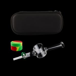 Vaping Dream Portale Case 10mm Titanium Quartz Ceramic Nail Clip Silicon Jar Dabber Oil Rig Honey Dab Straw Glass Hand Pipes