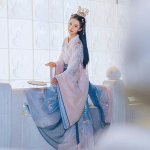 Neue Cosplay Hanfu alte chinesische Kostüm-Dynastie Tang-Anzug Folk-Fee-Kleid für Frauen Prinzessin Festival Outfits Tanz-Kostüm Zeitskleidung
