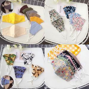 Moda yüz yıkanabilir yüz maskesi XD23796 toz geçirmez saf renk kamuflaj çiçek desen bayanlar yüz maskesi maskesi