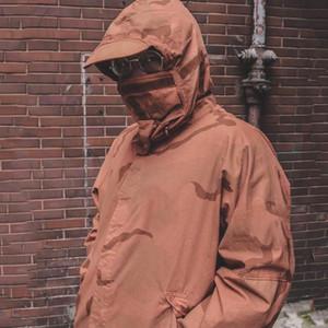 19FW Riot Taktik Giyim Kamuflaj Dağ Parka Ceket Windproof Açık Erkekler Kadınlar Coat Sokak Casual Sport Dış Giyim Ceket JK060 Maske