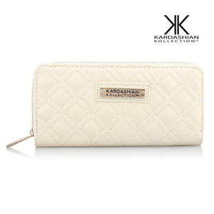 Heiße Selling Kk Wallet langer Entwurfs-Frauen-Mappen PU-Leder Kardashian Kollection High Grade-Handtasche Zipper Geldbeutel-Hand