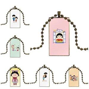 Para Criança Adorável Sakura Momoko Moda artesanal colar Rectângulo Colar Gargantilha jóias de vários projetos