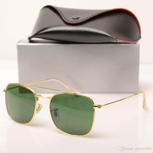 New Fashion womens design Sun glasses 3557 Brand Designer Sunglasses glass lens unisex Sun glasses Brand Mens glasses with cases and boxs