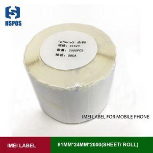 Postek G6000 C168에 대한 휴대 전화 아이폰 용지 롤 소송에 대한 IMEI 라벨 하단 상단 레이블 상자
