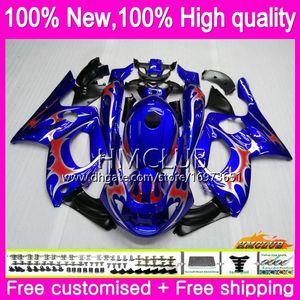 Corps YAMAHA Thundercat YZF600R 96 03 04 2005 2006 2007 79HM.22 YZF600R CC 1996 YZF 600R 2002 2003 2004 05 06 07 Flammes bleues carénages