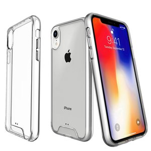 SPACE Transparent Clear Hybrid Phone Case For iPhone Xs Max XR 6 7 8 plus Samsung S10 plus A10S A20S A30S A40 A20 A30 A50 A70 A80 Huawei P40