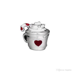 2018 Hiver 925 Bijoux En Argent Sterling Cacao Chaud Émail Rouge Charme Perles Convient Pandora Bracelets Collier Pour Femmes Fabrication de Bijoux