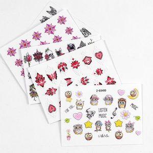 Art Sticker Fiore decalcomanie 25pcs / lot Nail 5D fai da te Nail Art Stickers involucri polacco Fogli della decorazione di punte