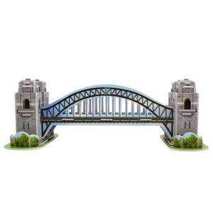 3D Espuma Sydney Bridge Puzzle Juguetes para niños Adultos DIY Montaje de Montaje Modelo Modelo Juguetes para niños Mejore la habilidad cognitiva Decoración del hogar