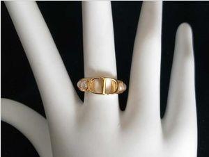 carta blanca anillo de perlas de doble cara temperamento femenino versátil mujeres anillo