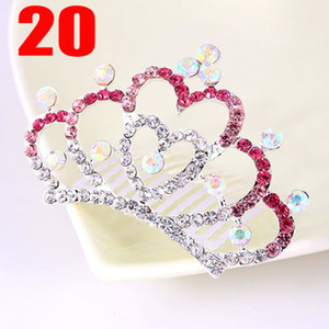 Children Hair Tiaras Kids Fashion Hair Accessories Girls Blingbling Birthday Gifts 2020 New Wholesale Child Hair Accessorie Hot Selling New