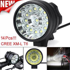 um farol bicicleta acende 34000 Lm 14x CREE T6 LED 3 Modos Lâmpada de bicicleta Bike Light Farol de bicicleta Torch