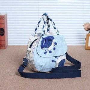Designer-corda nacional apliques mulheres que compram bolsas! Agradáveis em relevo floral ombro senhora sacos New Multi-uso transportadora lona