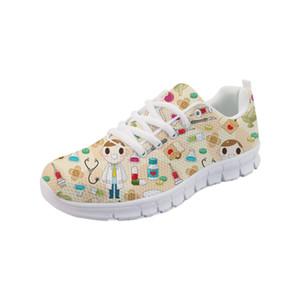 Noisydesigns 2019 NOUVEAU chaussures plates décontractées tendance chaussures médicales pour les filles dames Schoenen Vrouw -AQ