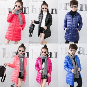 Winter children down length parka men women children's clothing down jacket jacket slim fit top