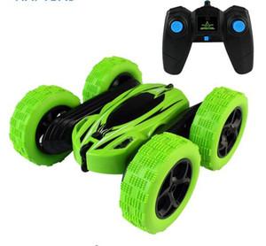 2.4 Ghz Uzaktan Kumanda Arabalar Dublör Rc Araba Yüksek Hız Yanıp Sönen 3D Flip rulo Yeşil Mavi Elektrikli Yarış Çift S Oyuncaklar Noel hediyesi
