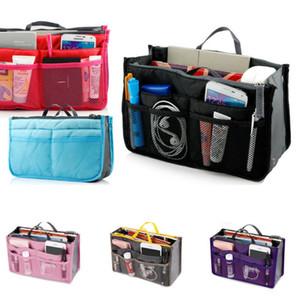 US STOCK Viagem Insert Handbag Organizer Bolsa forro Grande Nylon Organizer Tidy Eco-Friendly Folding Storage Bags 5 cores frete grátis