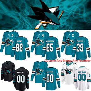 2020 San Jose Sharks 39 camisetas Costuras de Logan 65 Erik Karlsson 88 Brent Burns 9 camisetas de hockey Evander Kane 48 TOMAS HERTL 19 Joe Thornton